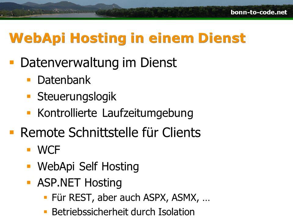 WebApi Hosting in einem Dienst