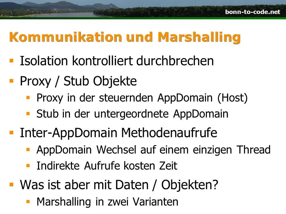 Kommunikation und Marshalling