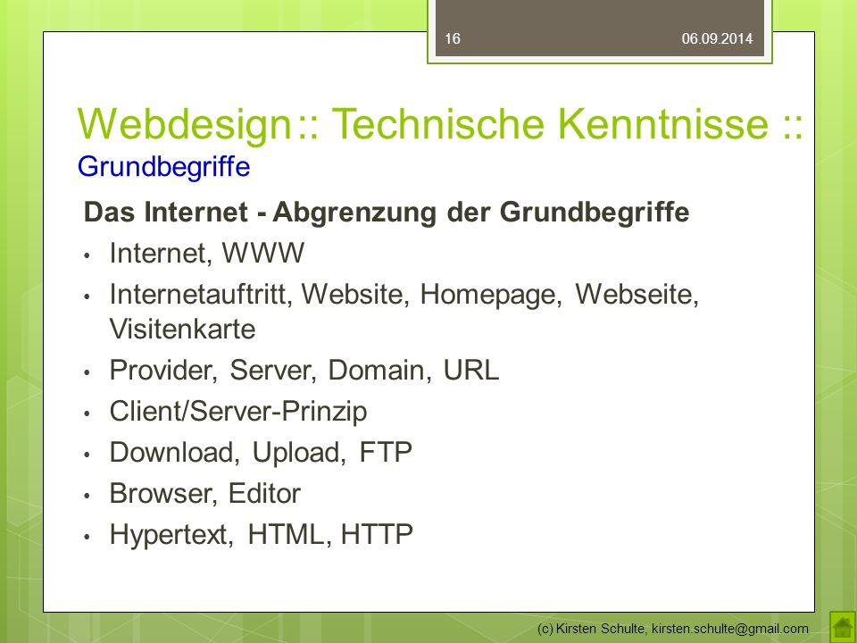 Webdesign :: Technische Kenntnisse :: Grundbegriffe