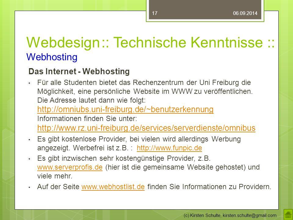 Webdesign :: Technische Kenntnisse :: Webhosting