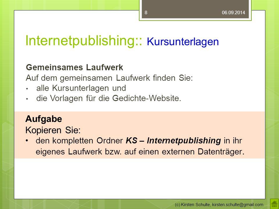 Internetpublishing:: Kursunterlagen