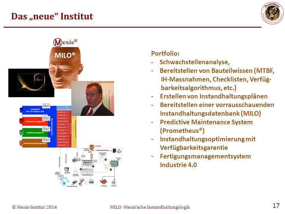 """Das """"neue Institut Portfolio: - Schwachstellenanalyse,"""