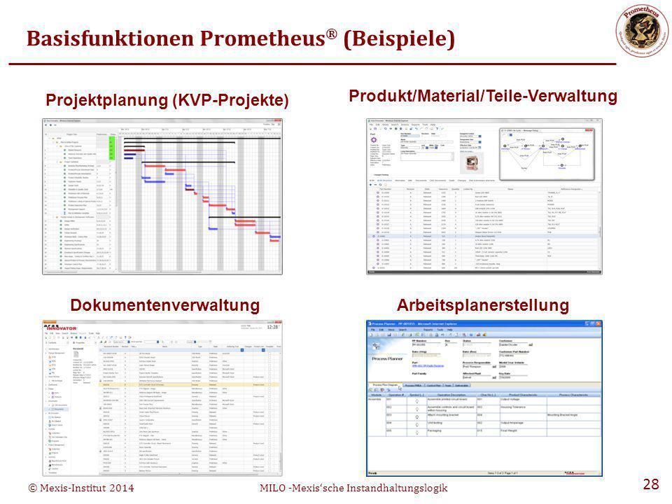 Basisfunktionen Prometheus® (Beispiele)