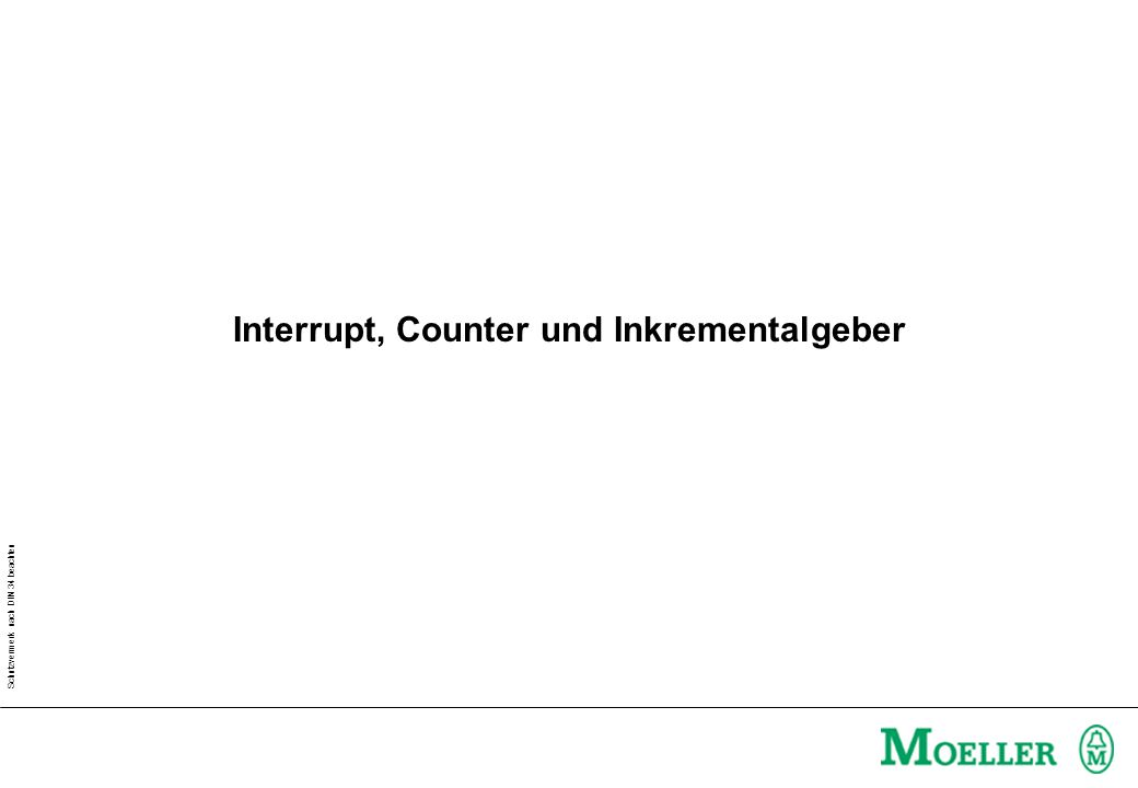 Interrupt, Counter und Inkrementalgeber