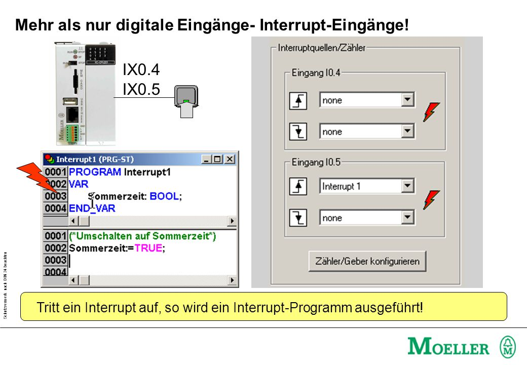 Mehr als nur digitale Eingänge- Interrupt-Eingänge!