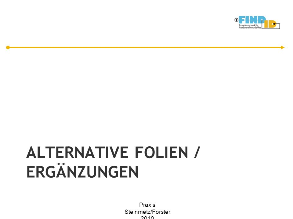 Alternative Folien / ergänzungen