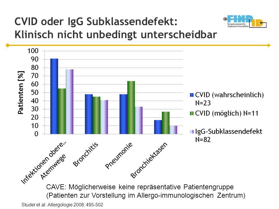 CVID oder IgG Subklassendefekt: Klinisch nicht unbedingt unterscheidbar