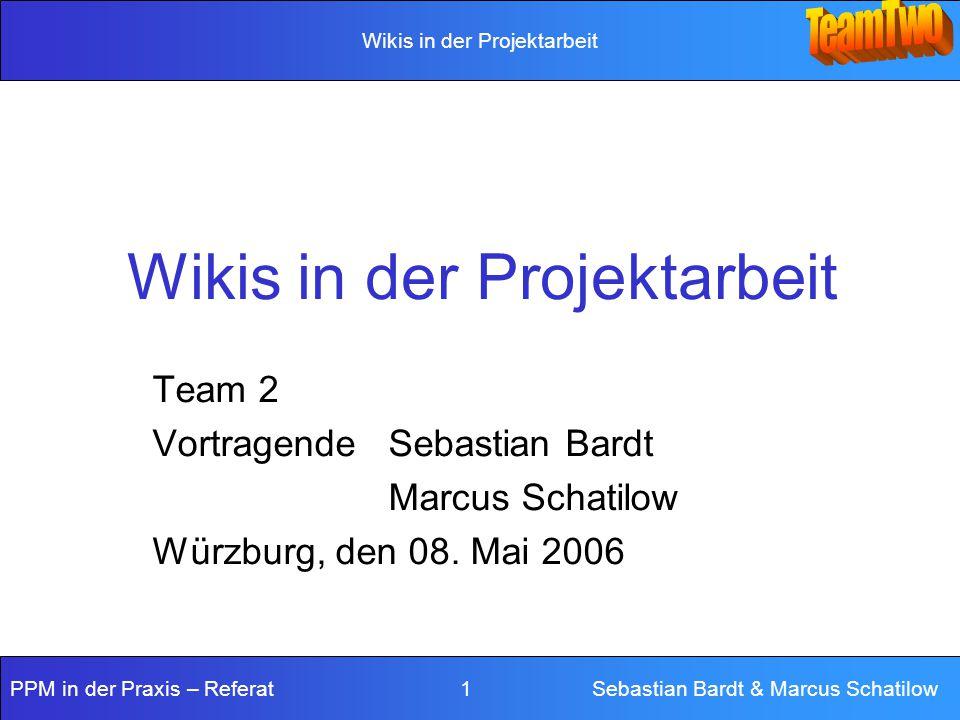 Wikis in der Projektarbeit