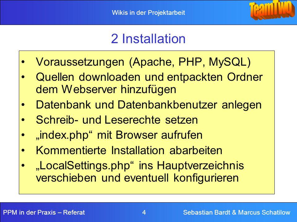 2 Installation Voraussetzungen (Apache, PHP, MySQL)