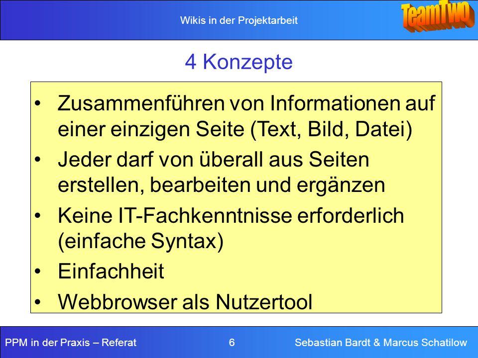 4 Konzepte Zusammenführen von Informationen auf einer einzigen Seite (Text, Bild, Datei)