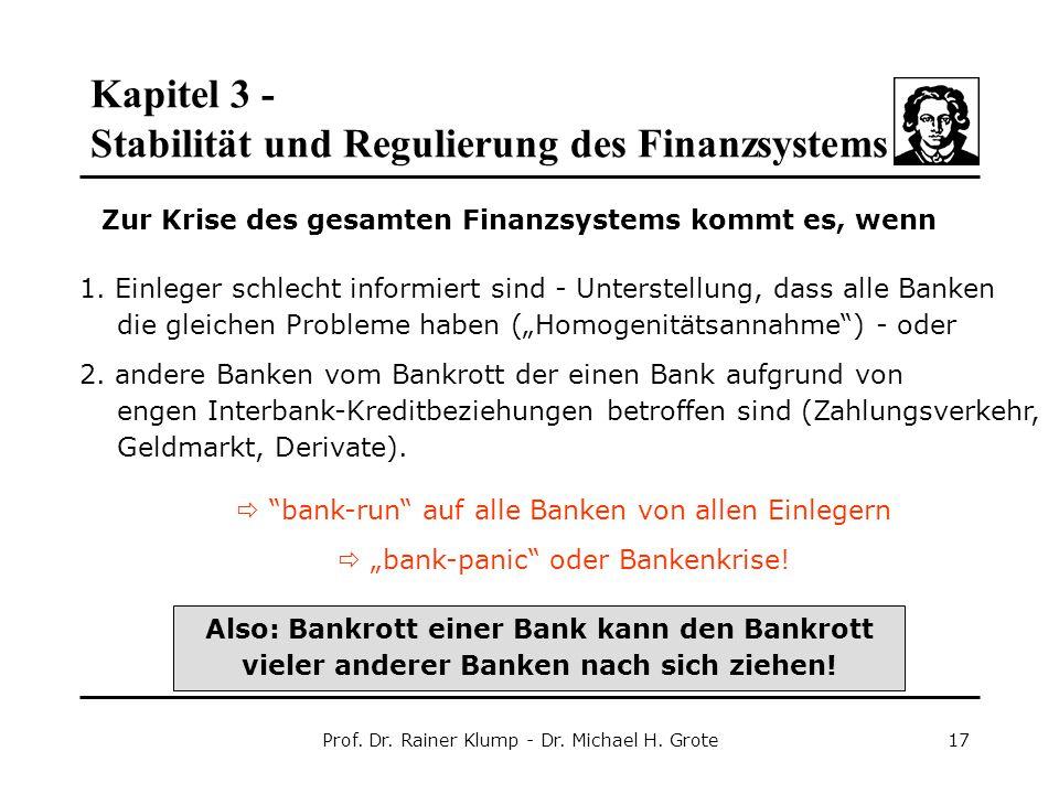 Zur Krise des gesamten Finanzsystems kommt es, wenn