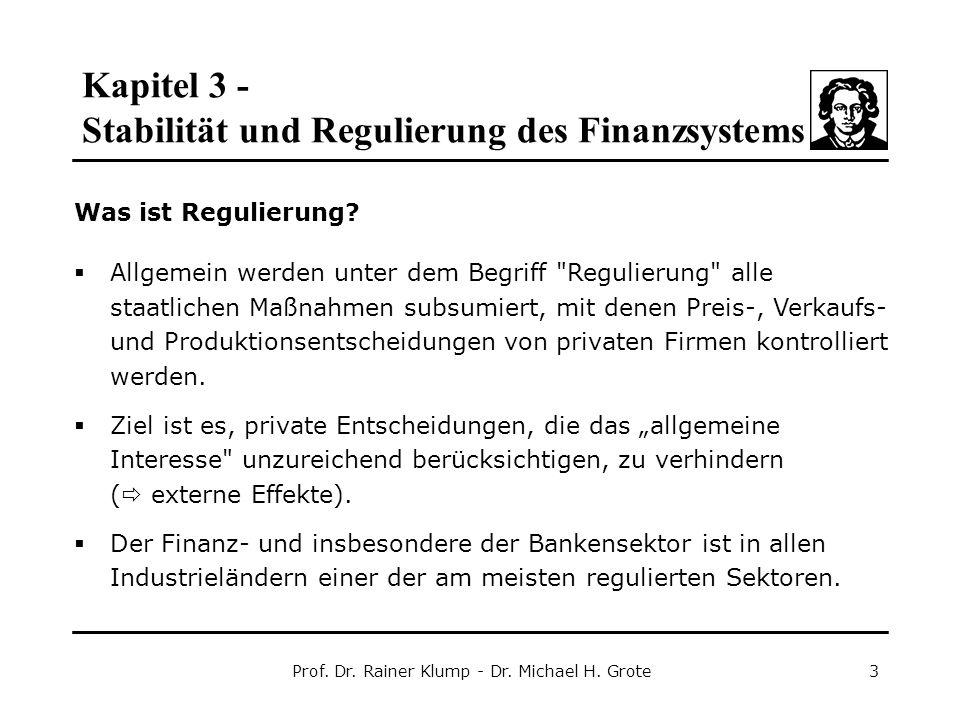 Prof. Dr. Rainer Klump - Dr. Michael H. Grote