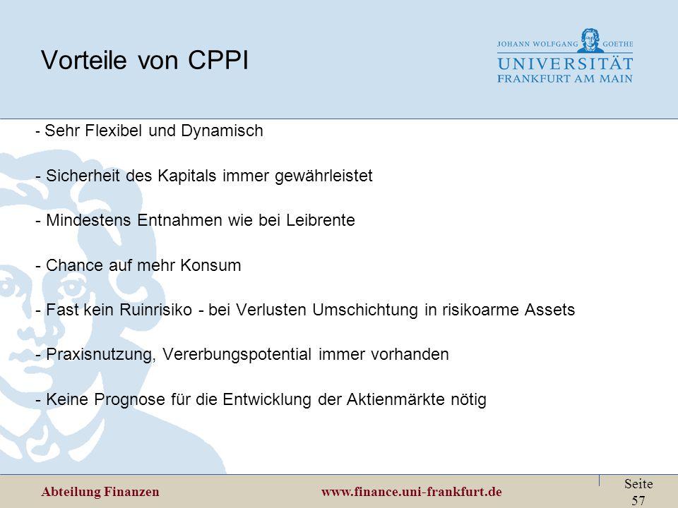 Vorteile von CPPI Sicherheit des Kapitals immer gewährleistet