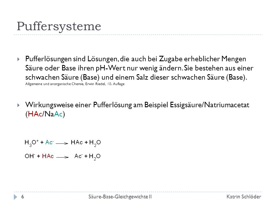 Puffersysteme