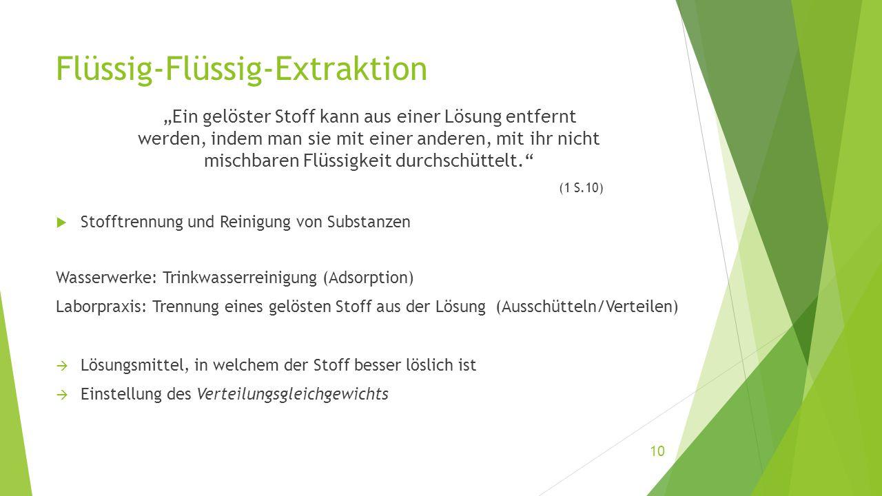 Flüssig-Flüssig-Extraktion