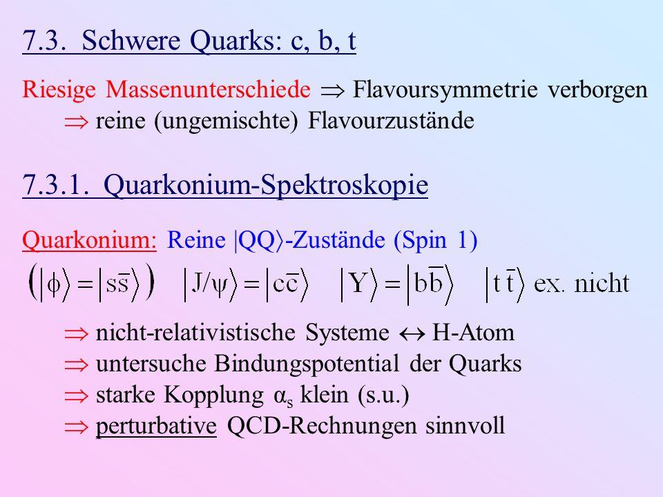 7.3.1. Quarkonium-Spektroskopie