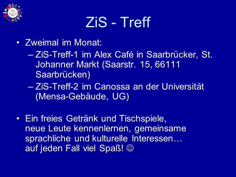 ZiS - Treff Zweimal im Monat: