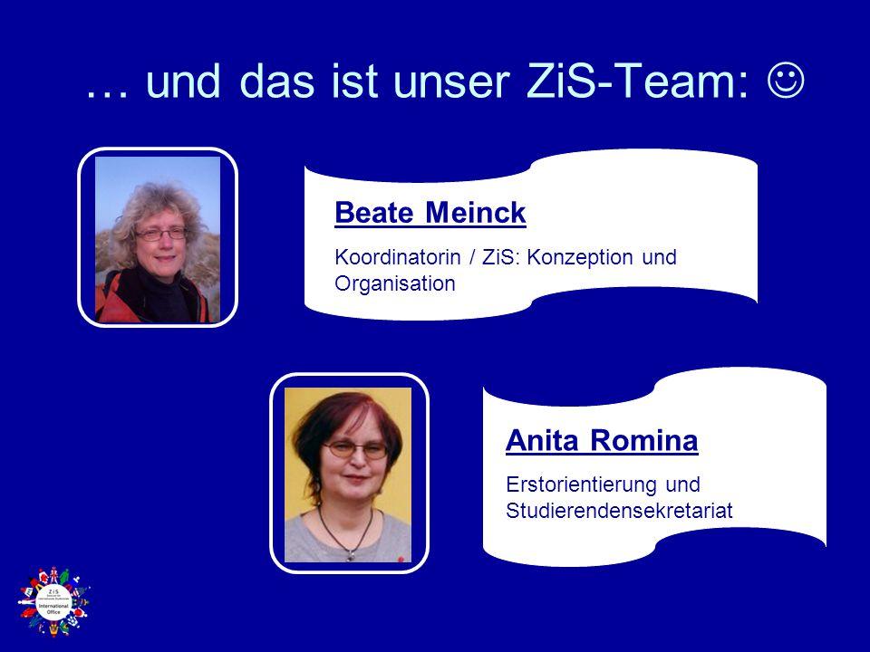 … und das ist unser ZiS-Team: 