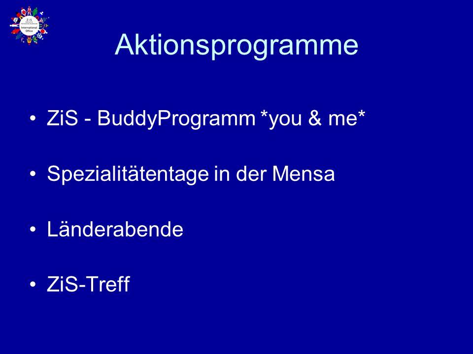 Aktionsprogramme ZiS - BuddyProgramm *you & me*