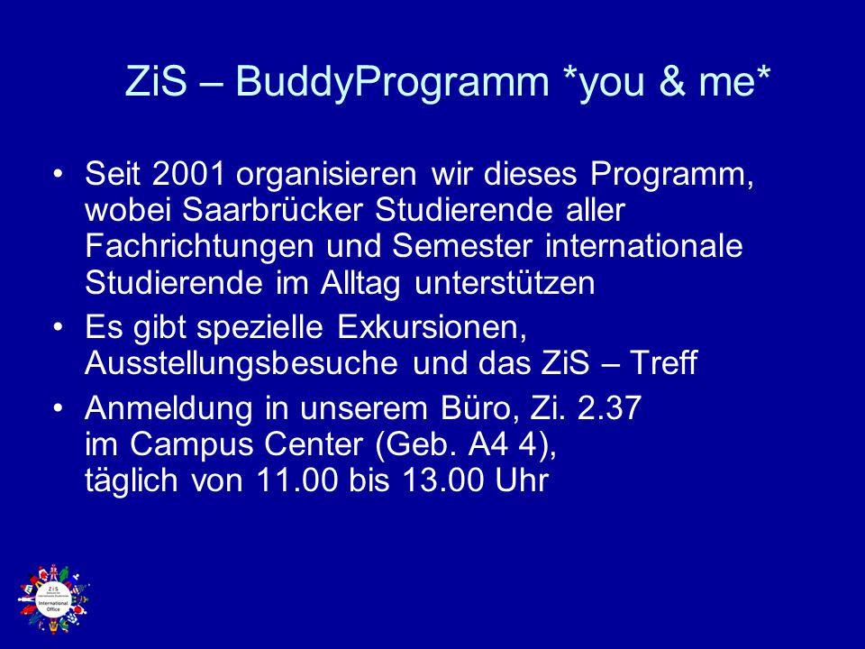 ZiS – BuddyProgramm *you & me*