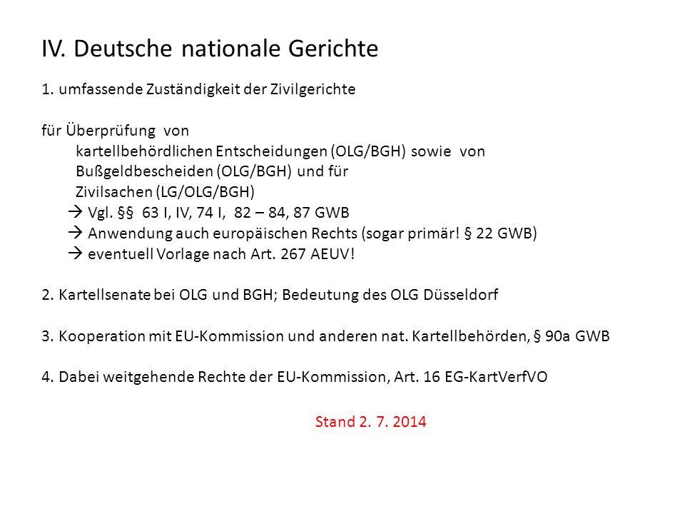 IV. Deutsche nationale Gerichte