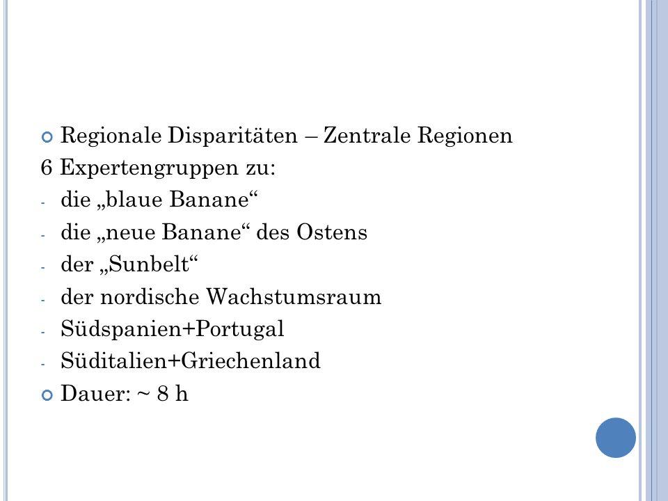 Regionale Disparitäten – Zentrale Regionen