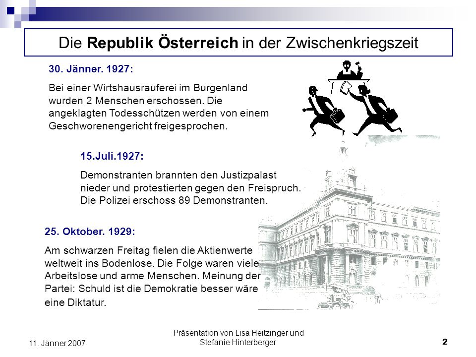 Die Republik Österreich in der Zwischenkriegszeit