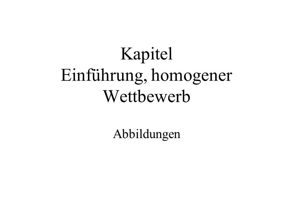 Kapitel Einführung, homogener Wettbewerb