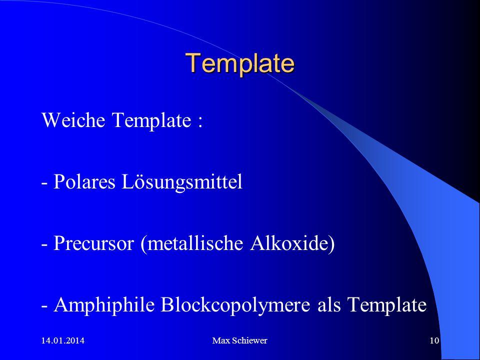 Template Weiche Template : - Polares Lösungsmittel