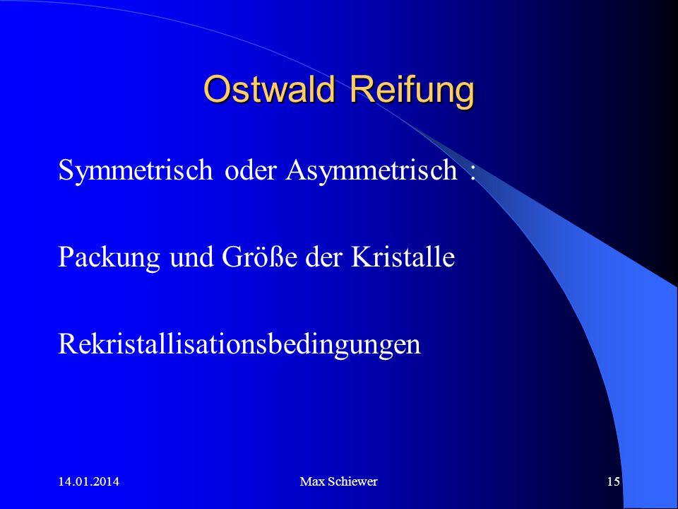 Ostwald Reifung Symmetrisch oder Asymmetrisch :