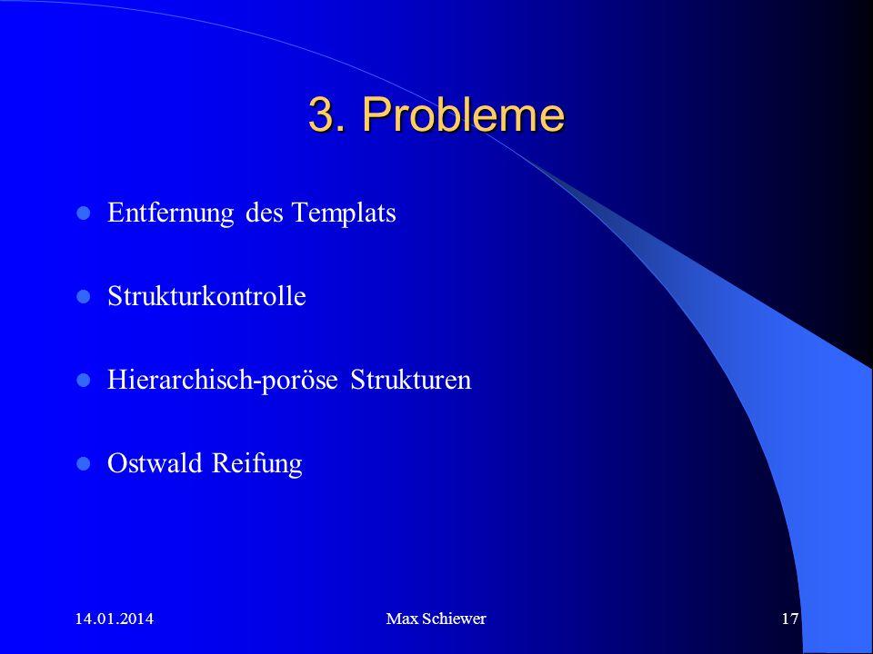 3. Probleme Entfernung des Templats Strukturkontrolle