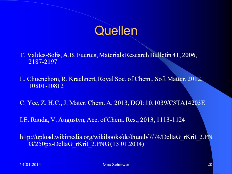 Quellen T. Valdes-Solis, A.B. Fuertes, Materials Research Bulletin 41, 2006, 2187-2197.