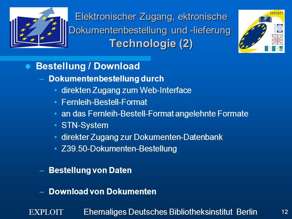 Elektronischer Zugang, ektronische Dokumentenbestellung und -lieferung Technologie (2)