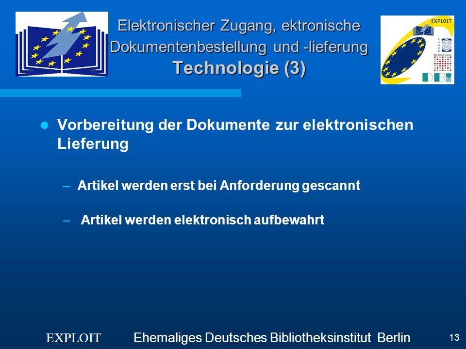 Vorbereitung der Dokumente zur elektronischen Lieferung