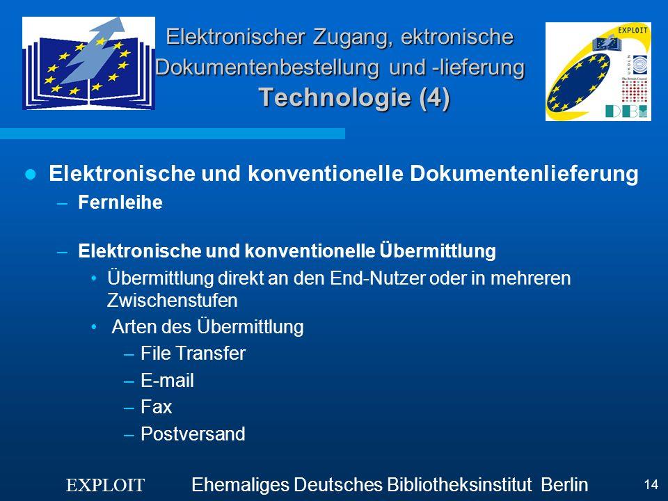 Elektronische und konventionelle Dokumentenlieferung