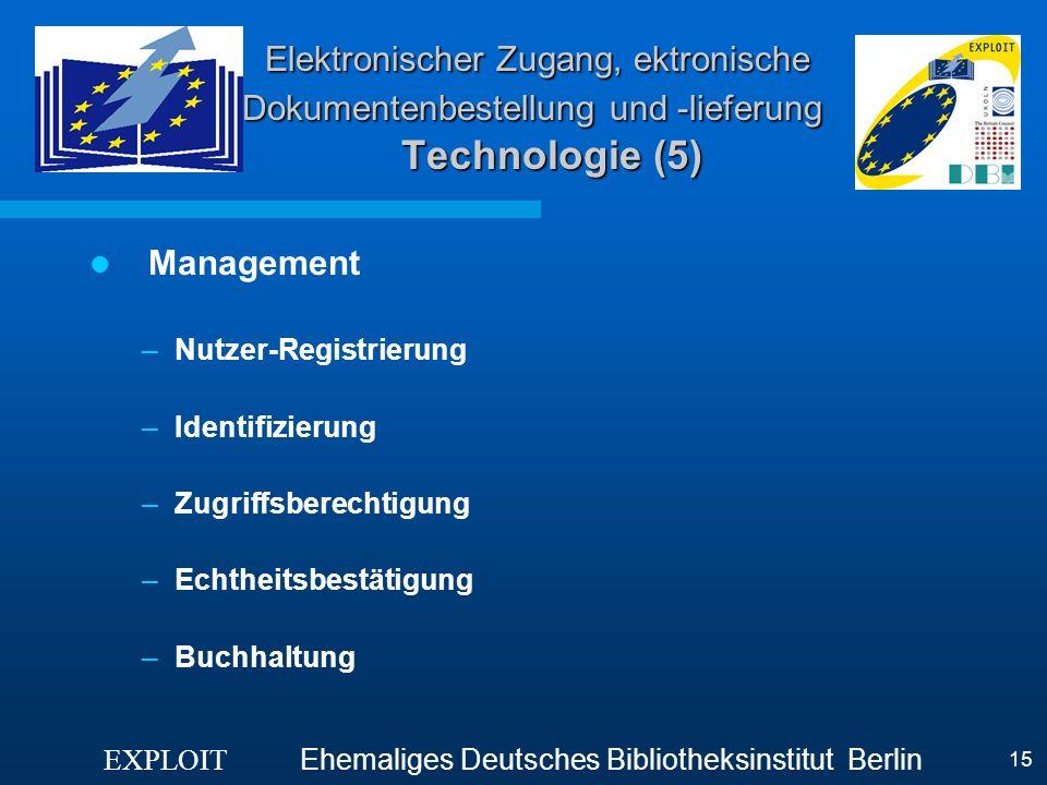Elektronischer Zugang, ektronische Dokumentenbestellung und -lieferung Technologie (5)