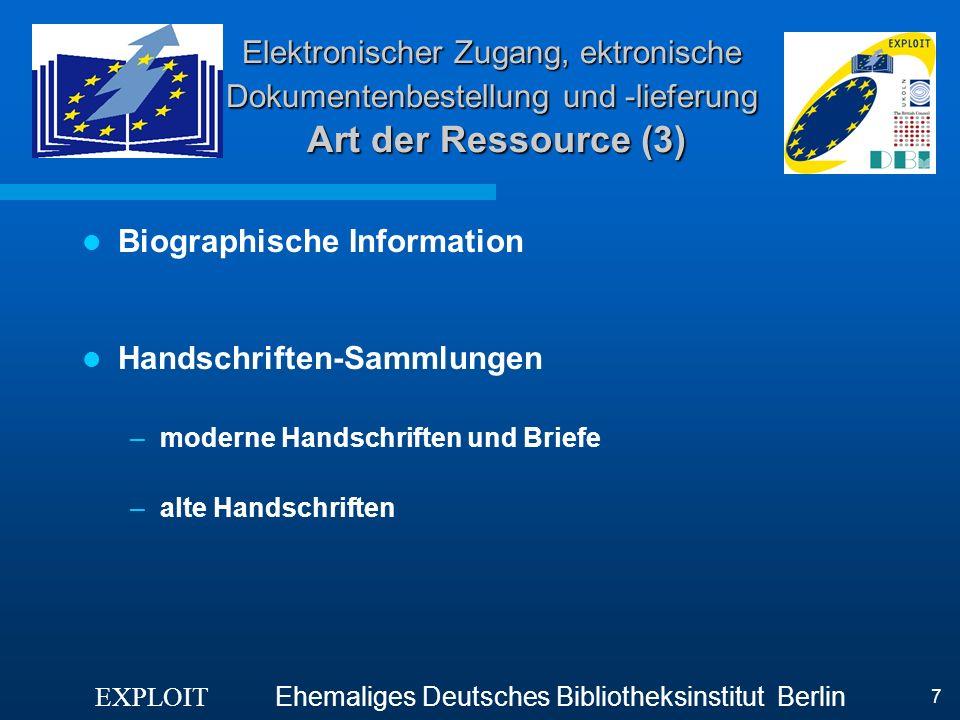 Biographische Information
