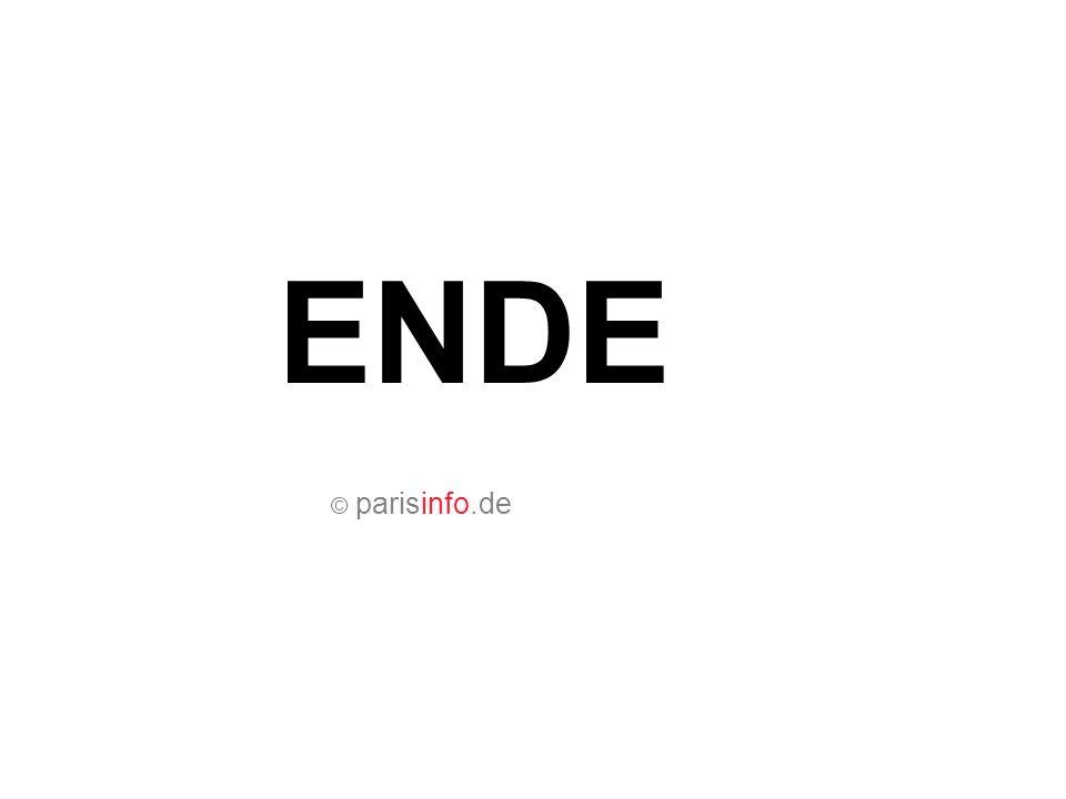 ENDE © parisinfo.de