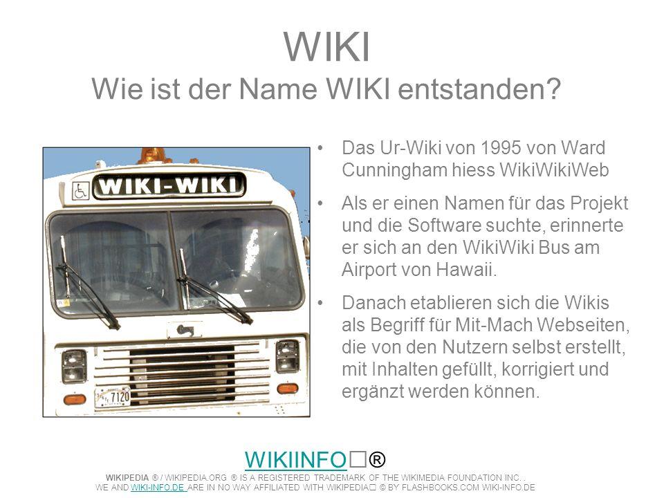 WIKI Wie ist der Name WIKI entstanden