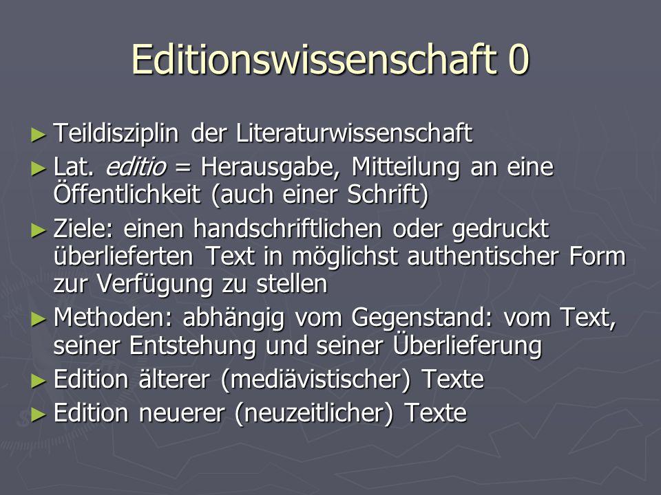 Editionswissenschaft 0