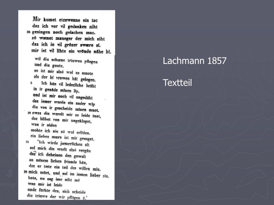 Lachmann 1857 Textteil