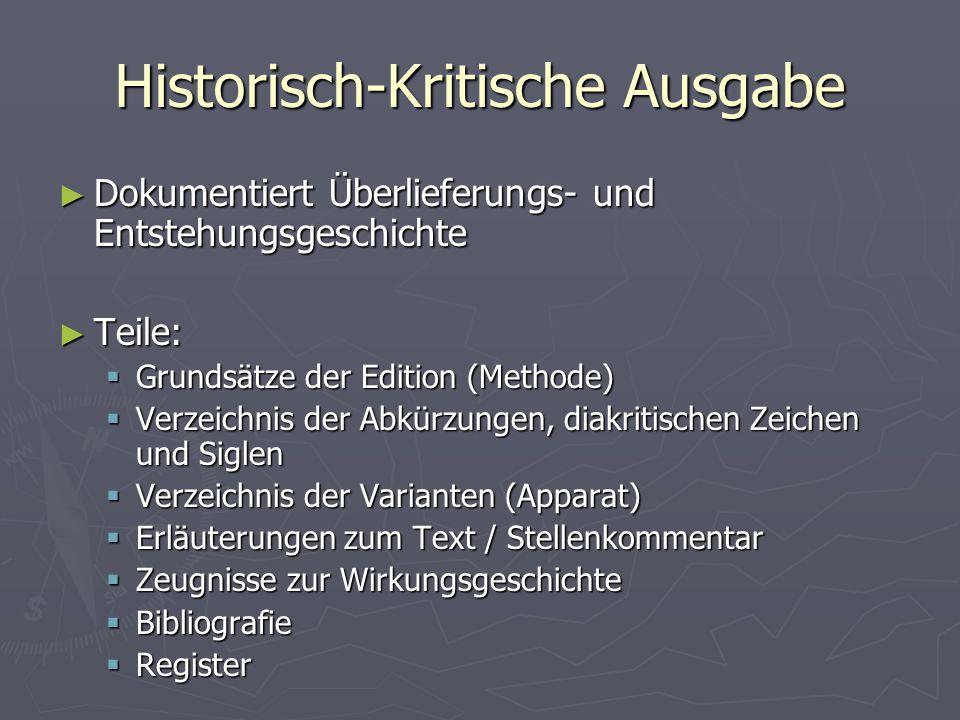 Historisch-Kritische Ausgabe