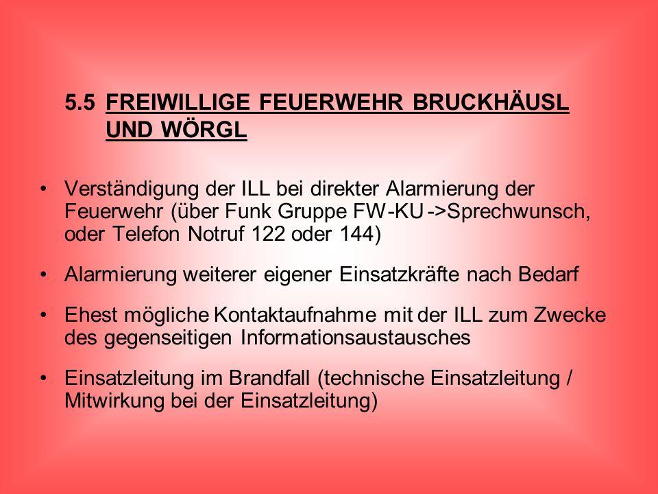 5.5 FREIWILLIGE FEUERWEHR BRUCKHÄUSL UND WÖRGL