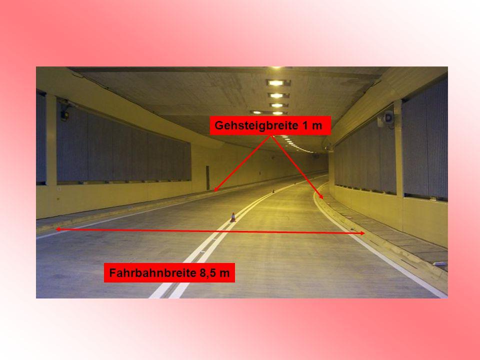 Gehsteigbreite 1 m Fahrbahnbreite 8,5 m