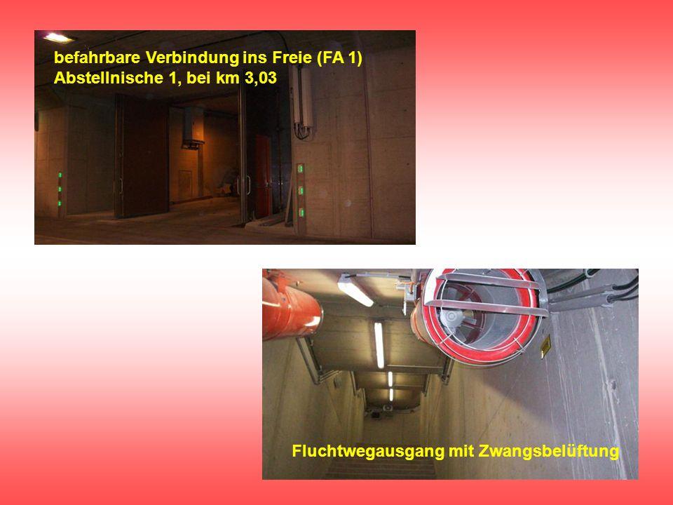 befahrbare Verbindung ins Freie (FA 1) Abstellnische 1, bei km 3,03
