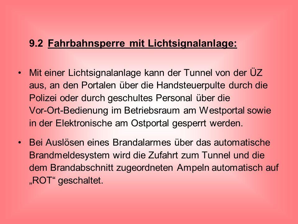 9.2 Fahrbahnsperre mit Lichtsignalanlage:
