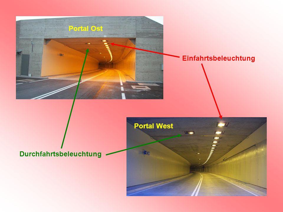 Portal Ost Einfahrtsbeleuchtung Portal West Durchfahrtsbeleuchtung