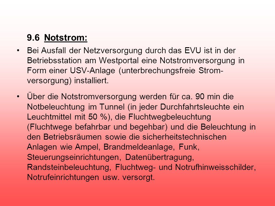 9.6 Notstrom: