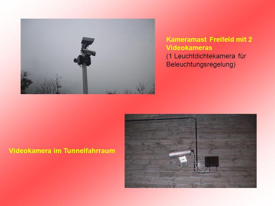 Kameramast Freifeld mit 2 Videokameras (1 Leuchtdichtekamera für Beleuchtungsregelung)