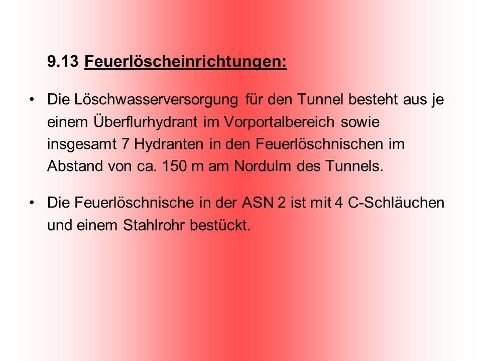 9.13 Feuerlöscheinrichtungen: